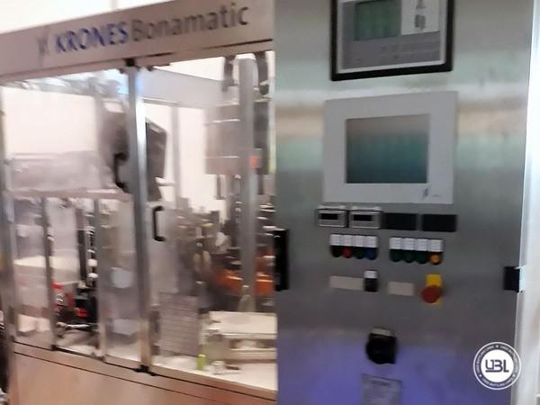 Used Bottle Labeler Krones Bonamatic 12000 bph year 2001 - 0