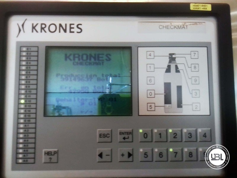 Used Bottle Labeler Krones Bonamatic 12000 bph year 2001 - 2