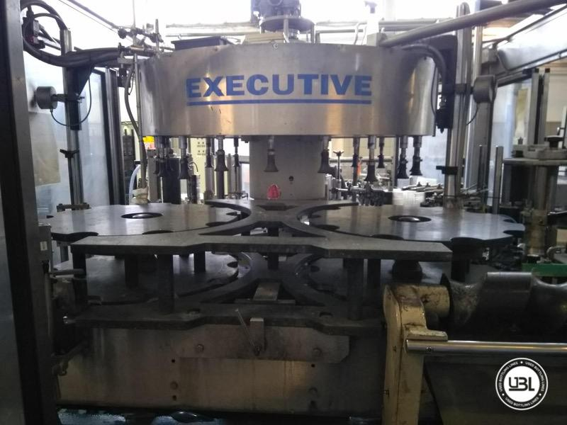 Used Bottle Labeler P.E. Labellers Executive 20T/1170/2S-3E 25000 bph year 2004 - 6