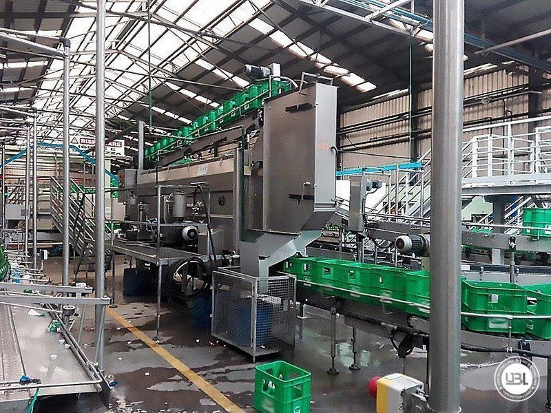 Used Isobaric Complete Glass Line for Sparkling Water, Water 20000 bph - 2