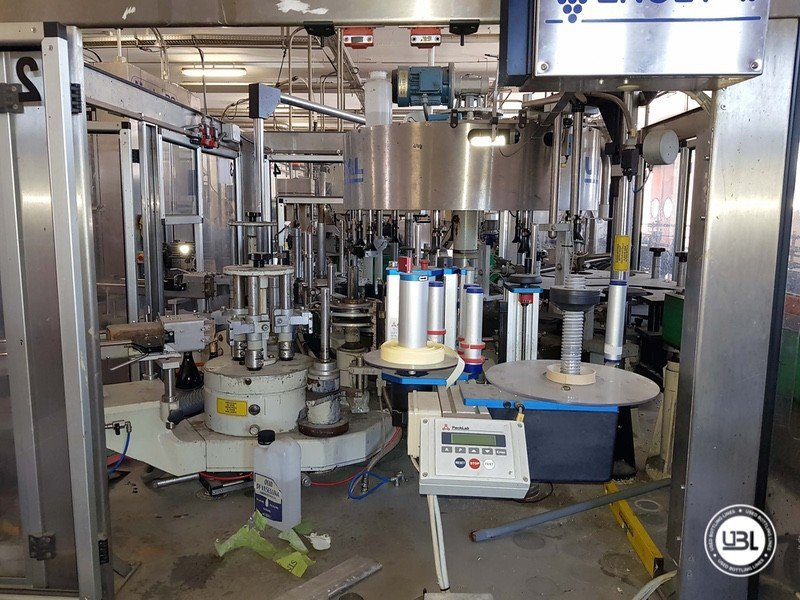 Used Complete Glass Line for Sparkling Wine, Spumante, Still Wine 4000 bph - 12