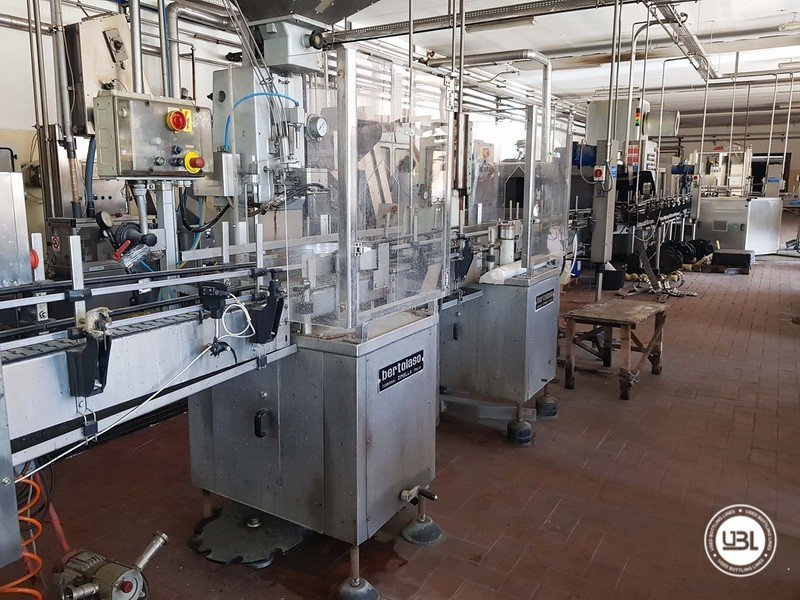 Used Complete Glass Line for Sparkling Wine, Spumante, Still Wine 4000 bph - 25