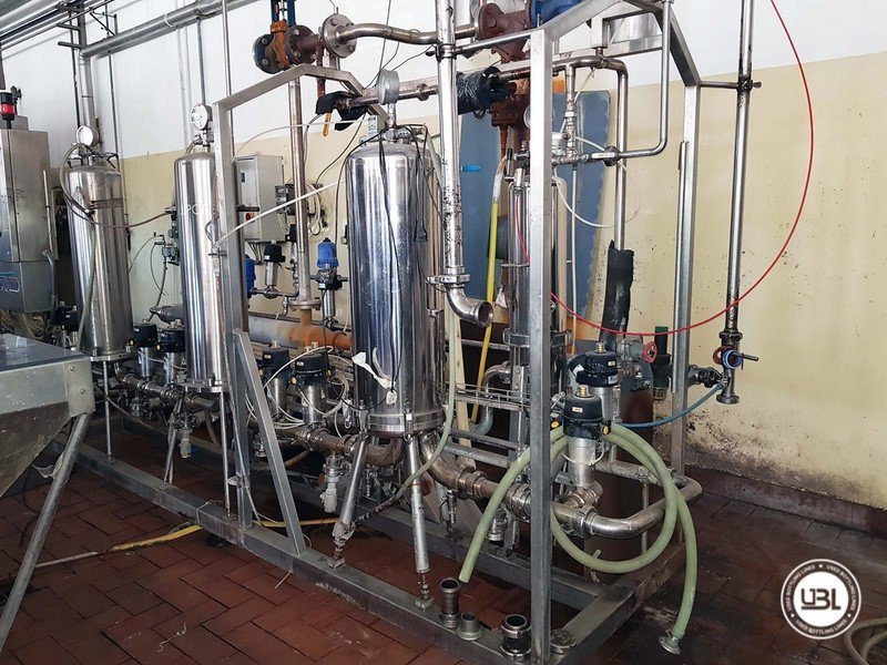 Used Complete Glass Line for Sparkling Wine, Spumante, Still Wine 4000 bph - 4