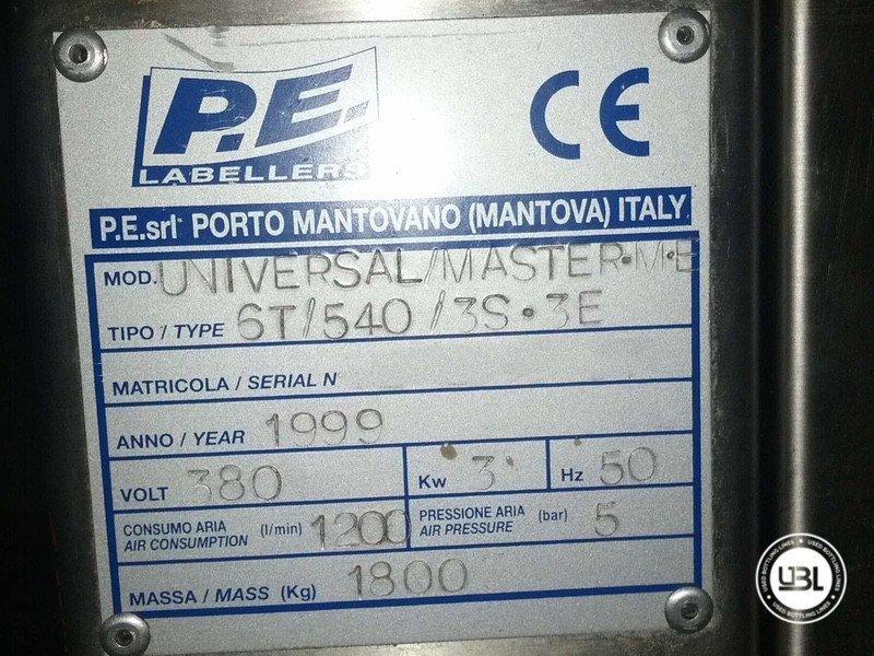 Used Bottle Labeler P.E. Labellers Universal Master 3500 bph - 2