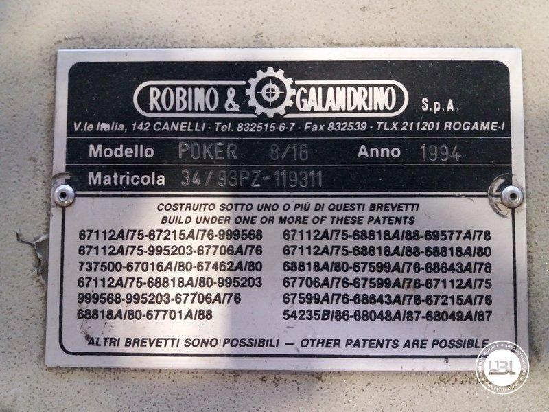 Used Capsuling Machine Robino & Galandrino Poker 8/16 - 11