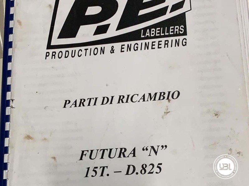 Used Bottle Labeler P.E. Labellers 15T/825/1S-1E 18000 bph year 2000 - 2