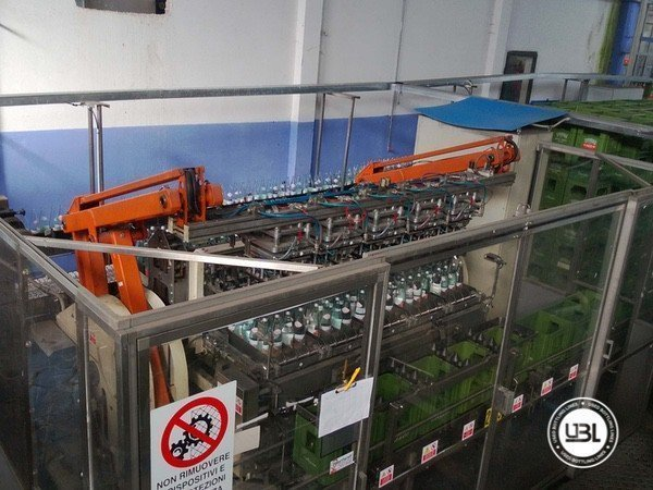Used Isobaric Complete Glass Line for Sparkling Water, Water 10000 bph - 15