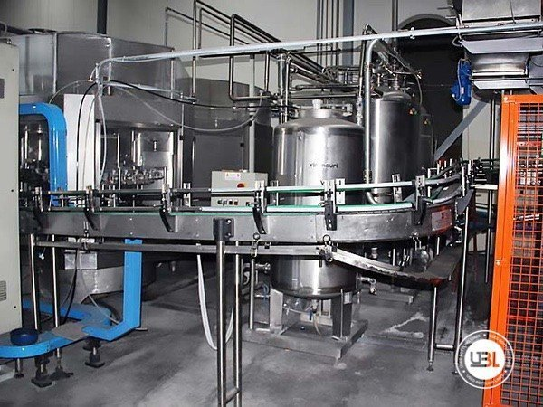 Used Isobaric Complete Glass Line for Sparkling Water, Water 7000 bph - 11