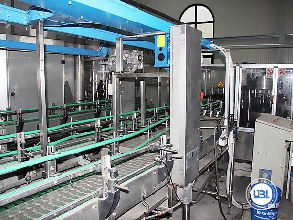 Used Isobaric Complete Glass Line for Sparkling Water, Water 7000 bph - 18