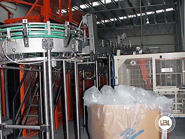 Used Isobaric Complete Glass Line for Sparkling Water, Water 7000 bph - 7