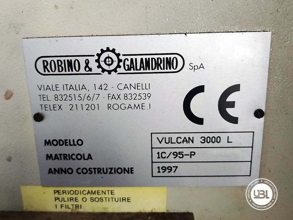 Capsuladoras Robino & Galandrino VULCAN 3000 L - 3
