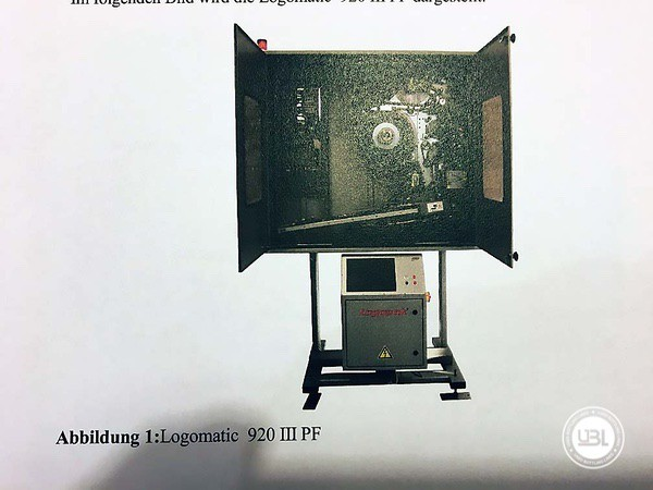 Used Bottle Labeler LOGOPACK LOGOMATIC III 920 PF – Pallets year 2011 - 2