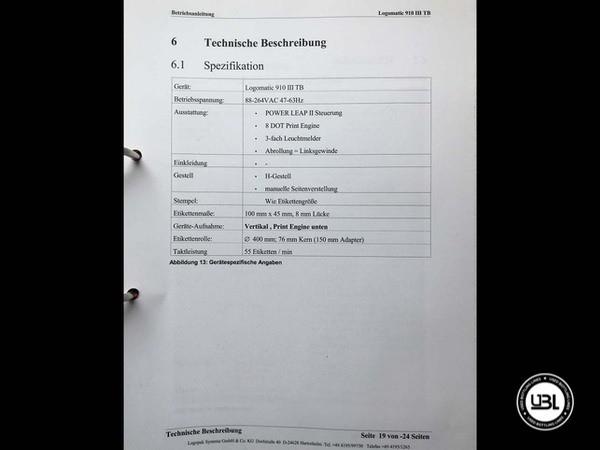 Rotuladoras LOGOPACK LOGOMATIC III 910 TB – Tray Labeler - 1