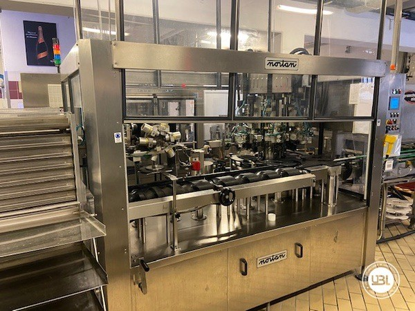 Used Complete Glass Line Isobaric for Sparkling Wine, Spumante, Still Wine 6500 Bph - 16