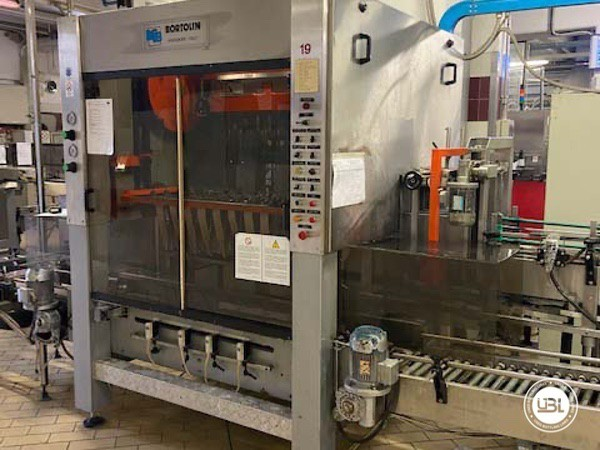 Used Complete Glass Line Isobaric for Sparkling Wine, Spumante, Still Wine 6500 Bph - 22