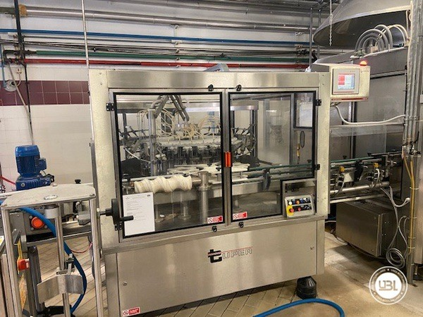 Used Complete Glass Line Isobaric for Sparkling Wine, Spumante, Still Wine 6500 Bph - 3