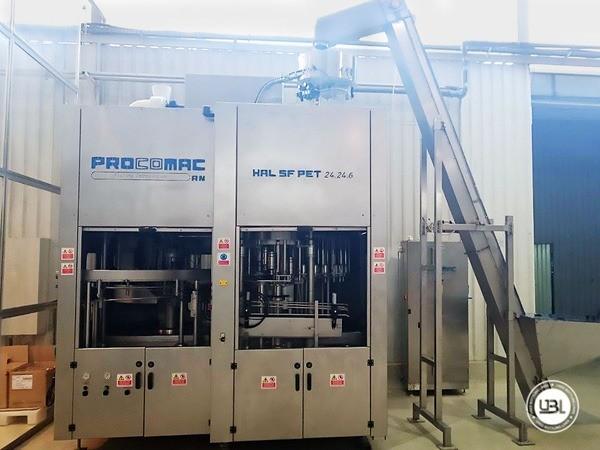 Used Volumetric Filling Machine Procomac HAL SF PET 24.24.6 / 125.6 6000 bph - 0