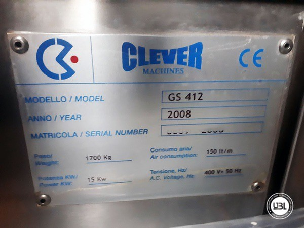 Used Bottle Labeler CLEVER MACHINES GS 412 18000 bph year 2008 - 0