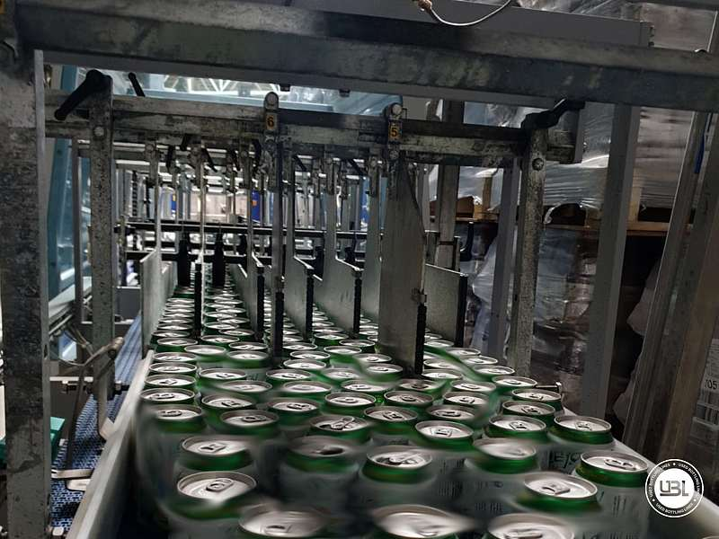 Used Isobaric Complete Can Line for Juice, Soft Drinks, Sparkling Water, Tea, Water 30000 cph - 11