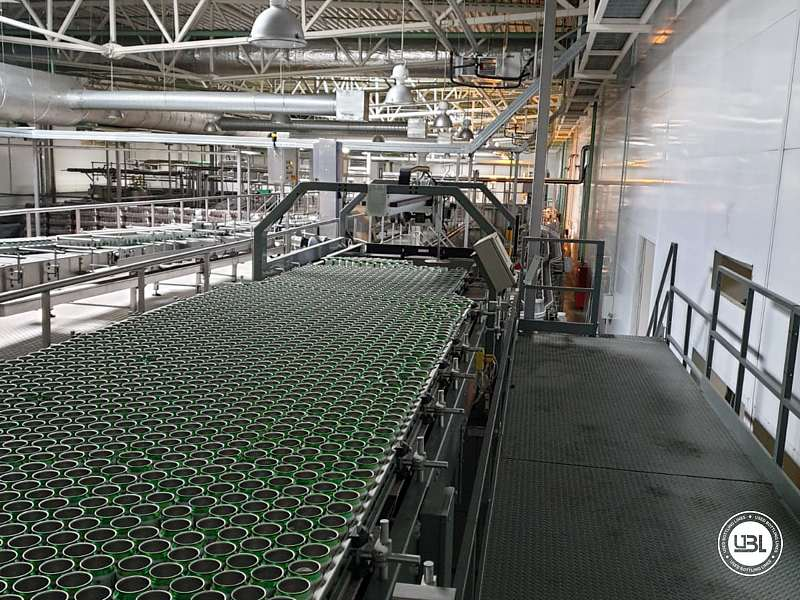 Used Isobaric Complete Can Line for Juice, Soft Drinks, Sparkling Water, Tea, Water 30000 cph - 22