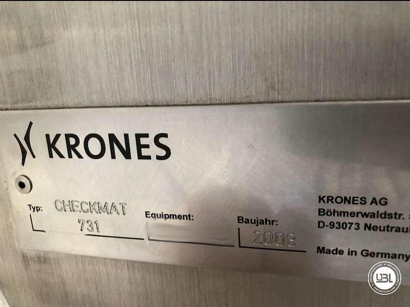 Used Bottle Inspector Krones Checkmat - 10