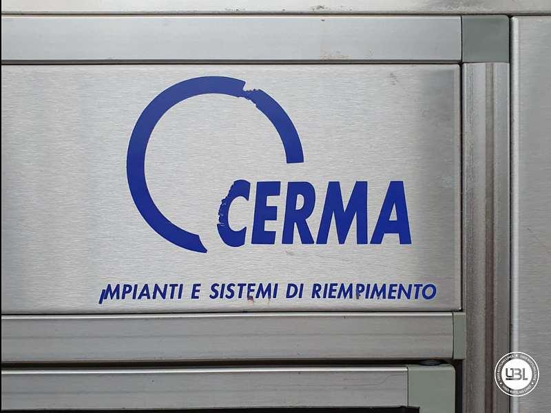 Used Filling Monoblock Cerma 26/6 Glass bottles Aluminum screw cap for Alcohol and oil 2980 bph - 3