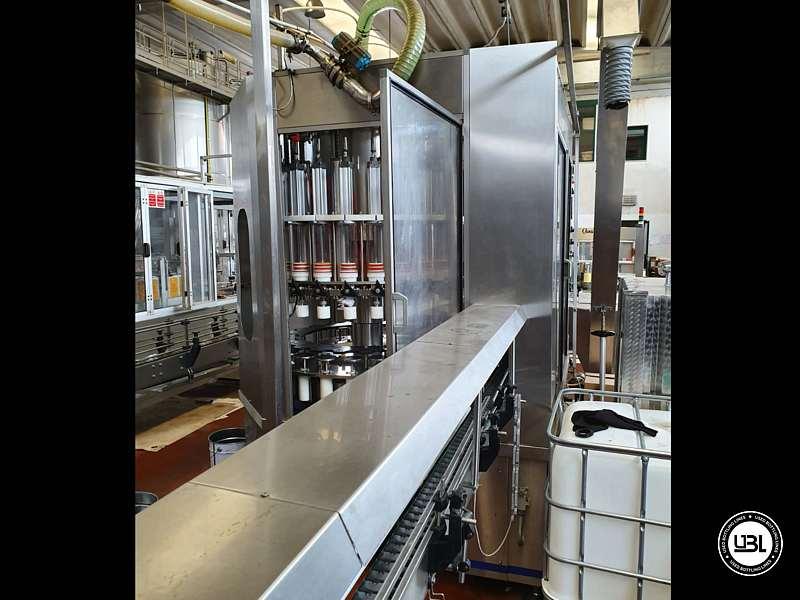 Used Filling Monoblock Cerma 26/6 Glass bottles Aluminum screw cap for Alcohol and oil 2980 bph - 5