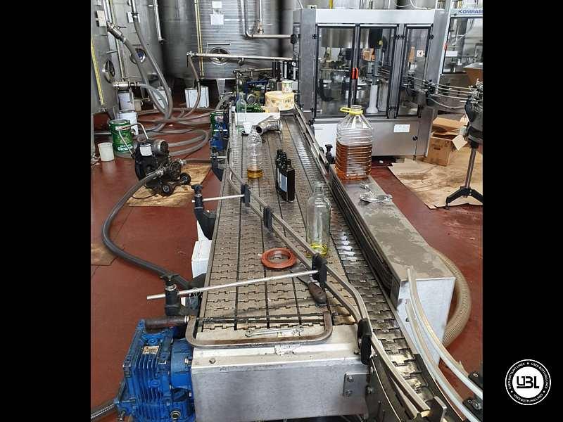 Used Filling Monoblock Cerma 26/6 Glass bottles Aluminum screw cap for Alcohol and oil 2980 bph - 7