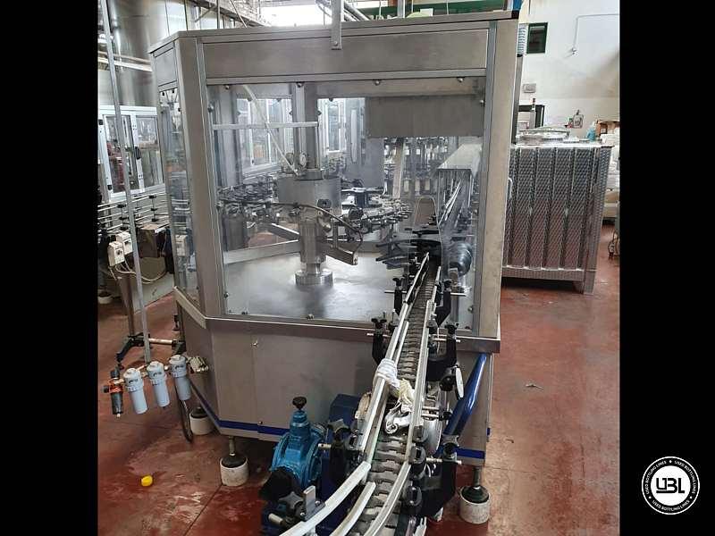 Used Filling Monoblock Cerma 26/6 Glass bottles Aluminum screw cap for Alcohol and oil 2980 bph - 8