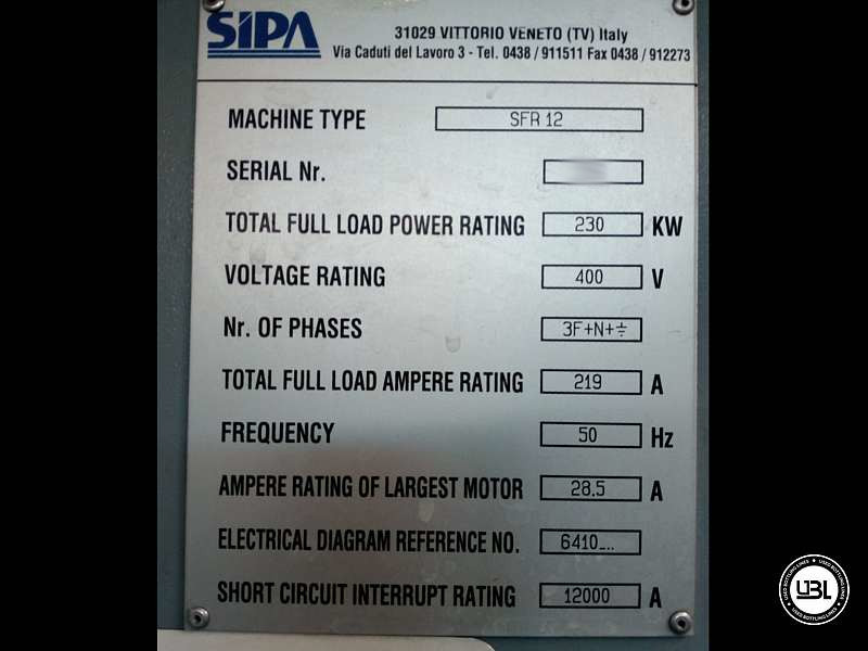 Used Blow Molding Machine Sipa SFR 12 year 2004 PCO 1810 19000 bph - 3