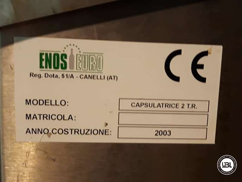 Used Capsuling Machine Enos Mod. 2 T.R. for PVC 2200 bph - 4