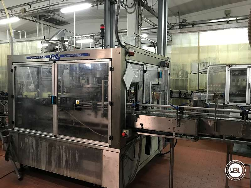 Used Bottle Labeler P.E. Labellers UNIVERSAL/MASTER M/S 10T/960/4S-4E 6000 bph - 2