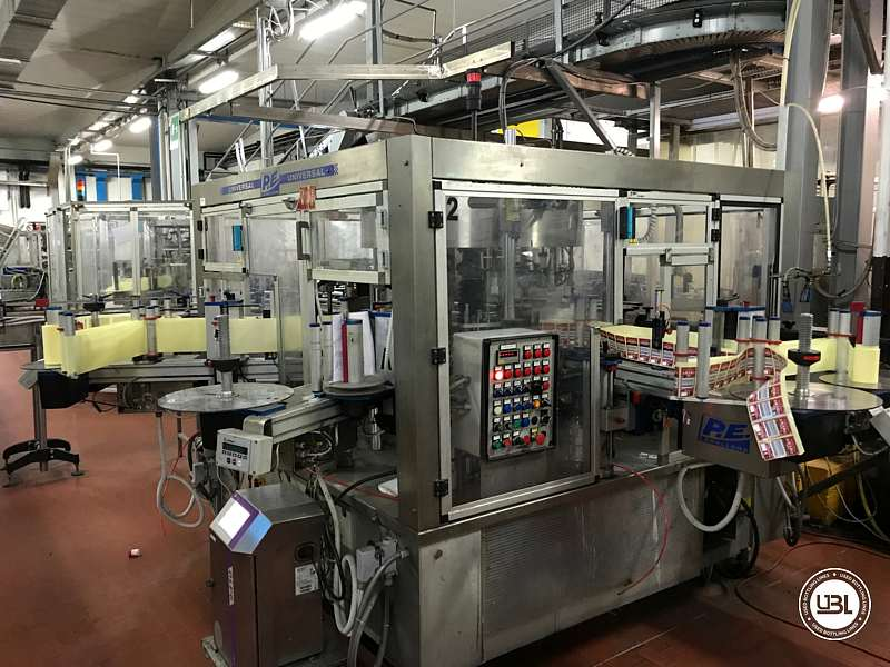 Used Bottle Labeler P.E. Labellers UNIVERSAL/MASTER M/S 10T/960/4S-4E 6000 bph - 3
