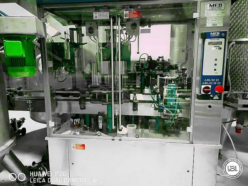 Used Capsuling Machine / Bottle Labeler MEB ADL12/MS2 – 2500 bph - 2