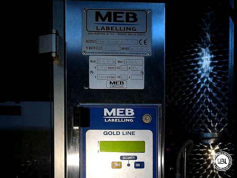 Used Capsuling Machine / Bottle Labeler MEB ADL12/MS2 – 2500 bph - 7