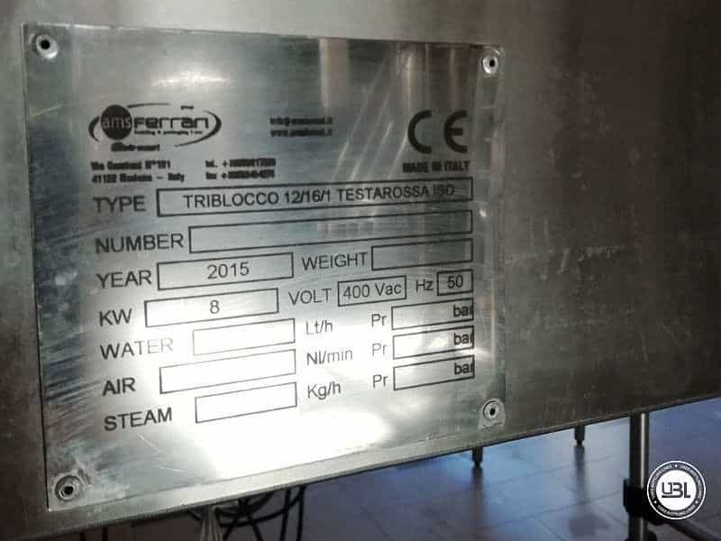 UsedIsobaric Filling Triblock AMS Ferrari 12-16-1 Testarossa ISO 16 Beer 2500 Bph - 5