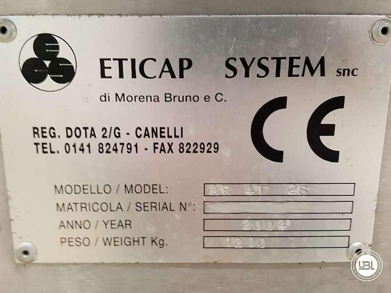 Étiqueteuses d'occasion Eticap AR 4T 2S – 4 Têtes Année 2004 – 2500 Bph - 4