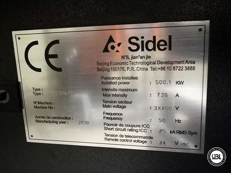 Used  Blow Moulding Machine Sidel model SBO14-20 neck PCO 1881 Year 2010 - 10