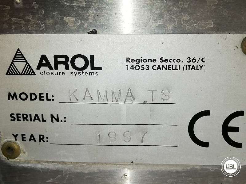 Used Capping Machine AROL Kamma TS 4 Heads for T-cap 4000 Bph T stopper - 11