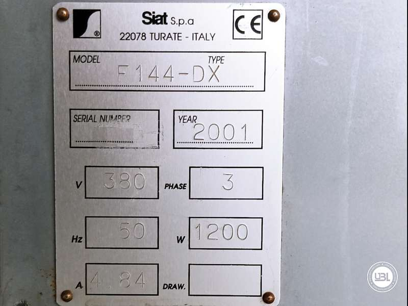 Used Case Erector Siat F 144-DX for Adhesive tape 500 cartons/hour - 5
