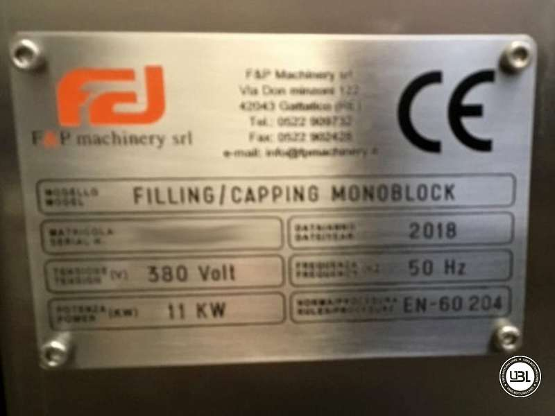 Tribloc de Remplissage à chaud d'occasion F&P Machinery Unica HF verre-PET 24.8.24.6 - 17