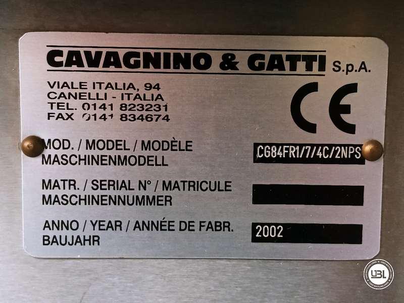 Etiquetadora usada Cavagnino & Gatti CG84FR1/7/4C/2NPS 3500 bph año 2002 - 4