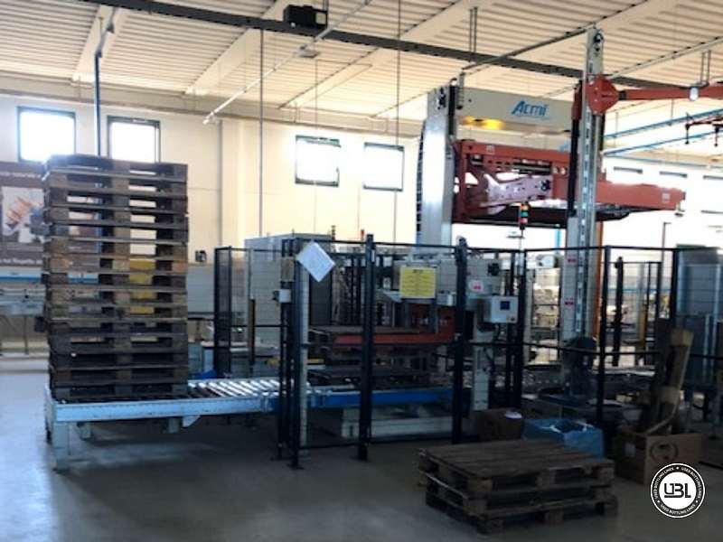 Used Palletizer ACMI RASAR P135 & Stretch Wrapper ACMI AVVOLGITORE 121 - 16