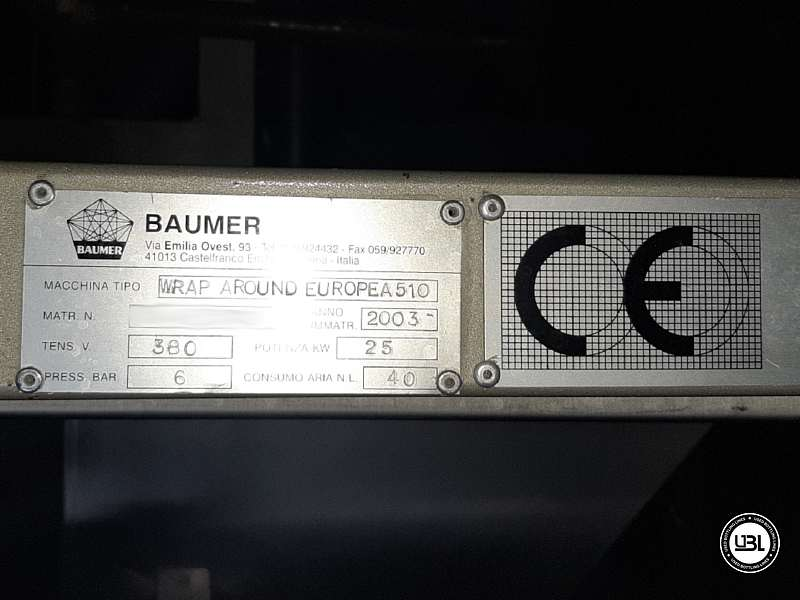 Wrap Around Baumer Europea 510 con Divisore Cosmopack – 40 colpi/minuto - 8