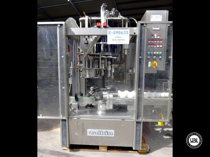 Used Automatic Rotary Capping Machine Zalkin CA 8 / 320 NG 20.000 bph 28 mm screw cap - 1