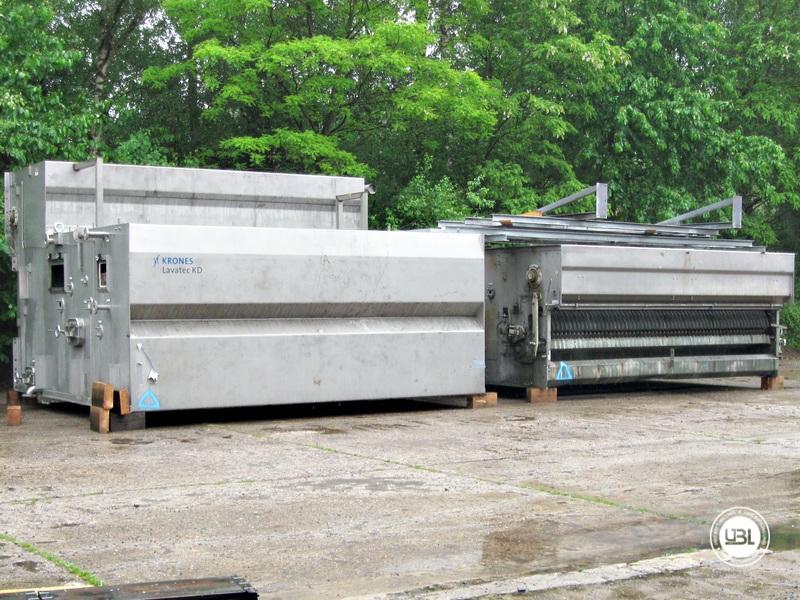 Used Bottle Washing Machine Krones Lavatec KD 2-88-500/58-80 5,2 up to 100.000 bph year 2001 - 1