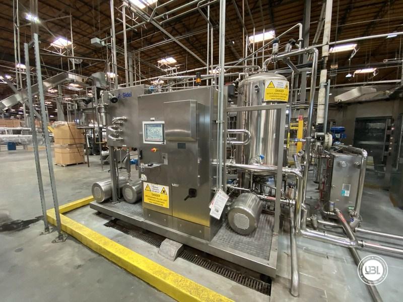 Used Sidel Complete Bottling Line for Carbonated Soft Drinks 36.000 bph - 2