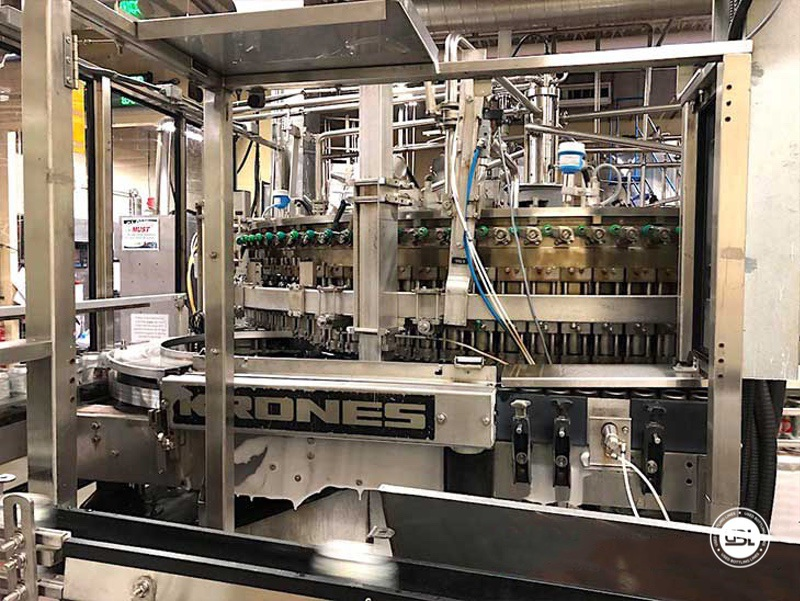 Used Bottling Krones Can Isobaric Filling Machine with Angelus Seamer 100 valves for 40.000 can per hour - 3