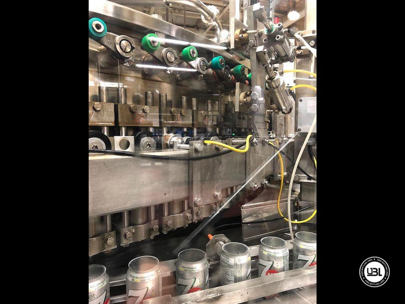 Used Bottling Krones Can Isobaric Filling Machine with Angelus Seamer 100 valves for 40.000 can per hour - 6