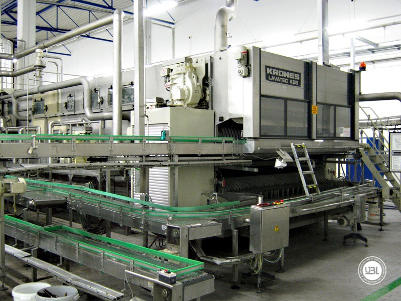 Used Bottle Washer Krones Lavatec KES-2-2-356-40-80 up to 64000 bph year 1998 - 1